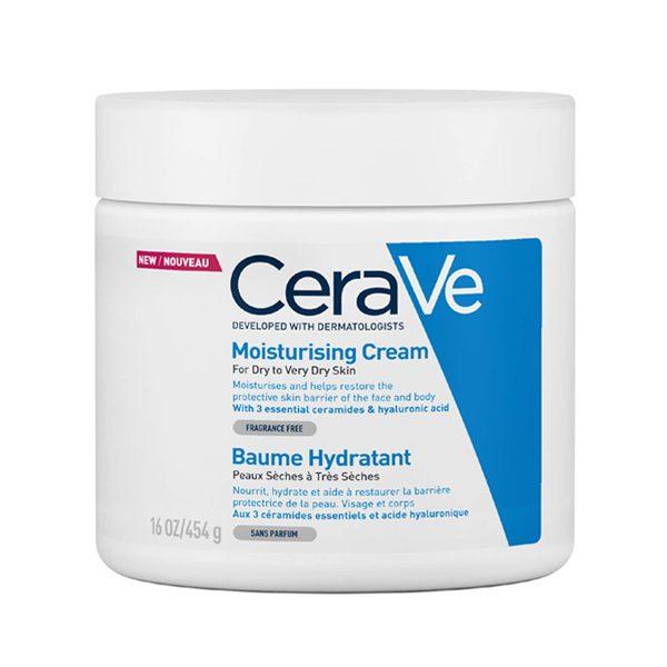 Moisturising Cream, CERAVE drėkinamasis veido ir kūno kremas, 454 g