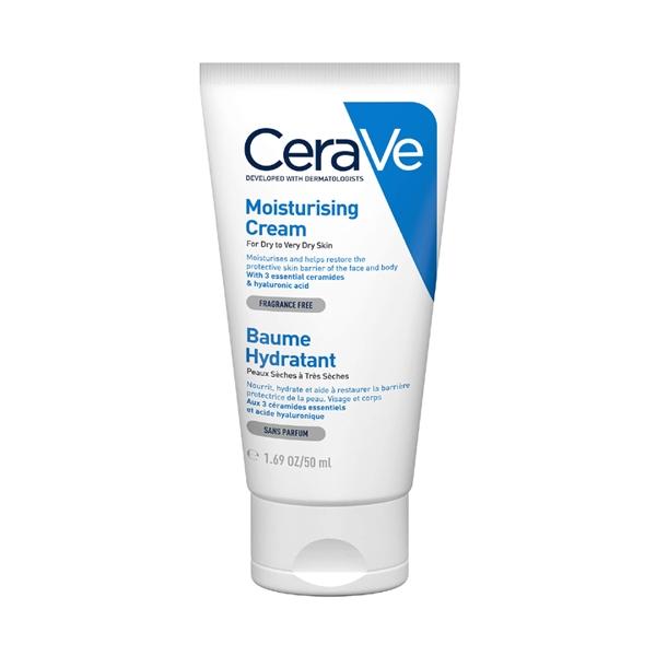 Moisturising Cream, CERAVE drėkinamasis veido ir kūno kremas, 50 ml