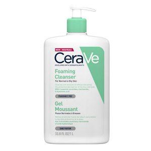 Foaming Cleanser, CERAVE prausiklis riebiai ir mišriai odai, 1 L
