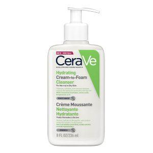 Hydrating Cream-to-Foam Cleanser, CERAVE prausiklis normaliai ir sausai odai, 236 ml