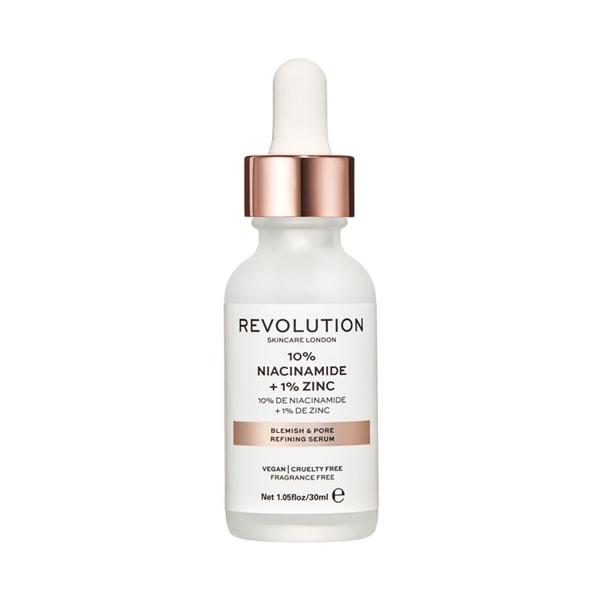 10% Niacinamide + 1% Zinc, Revolution Skincare veido serumas, 30 ml