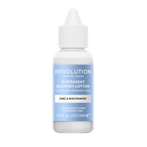 Blemish Lotion Zinc & Niacinamide, Revolution Skincare naktinis losjonas, 30 ml