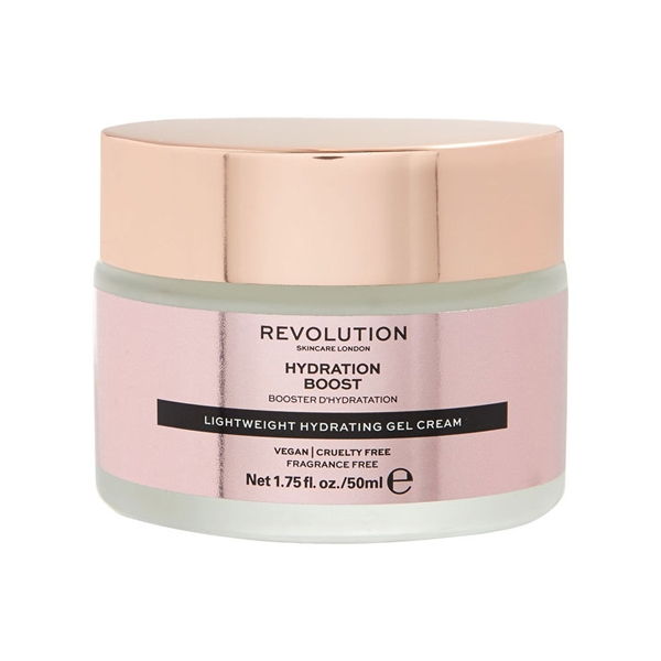 Hydration Boost, Revolution Skincare drėkinamasis veido kremas, 50 ml